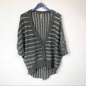 Free People Dolman Sleeve Striped Knit Sweater